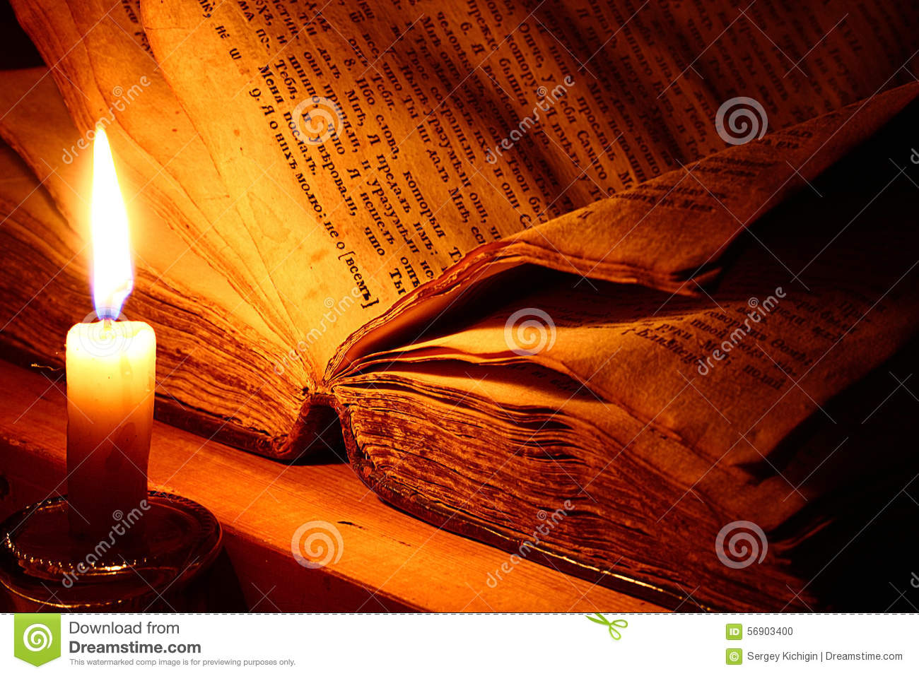 VIntage book candle