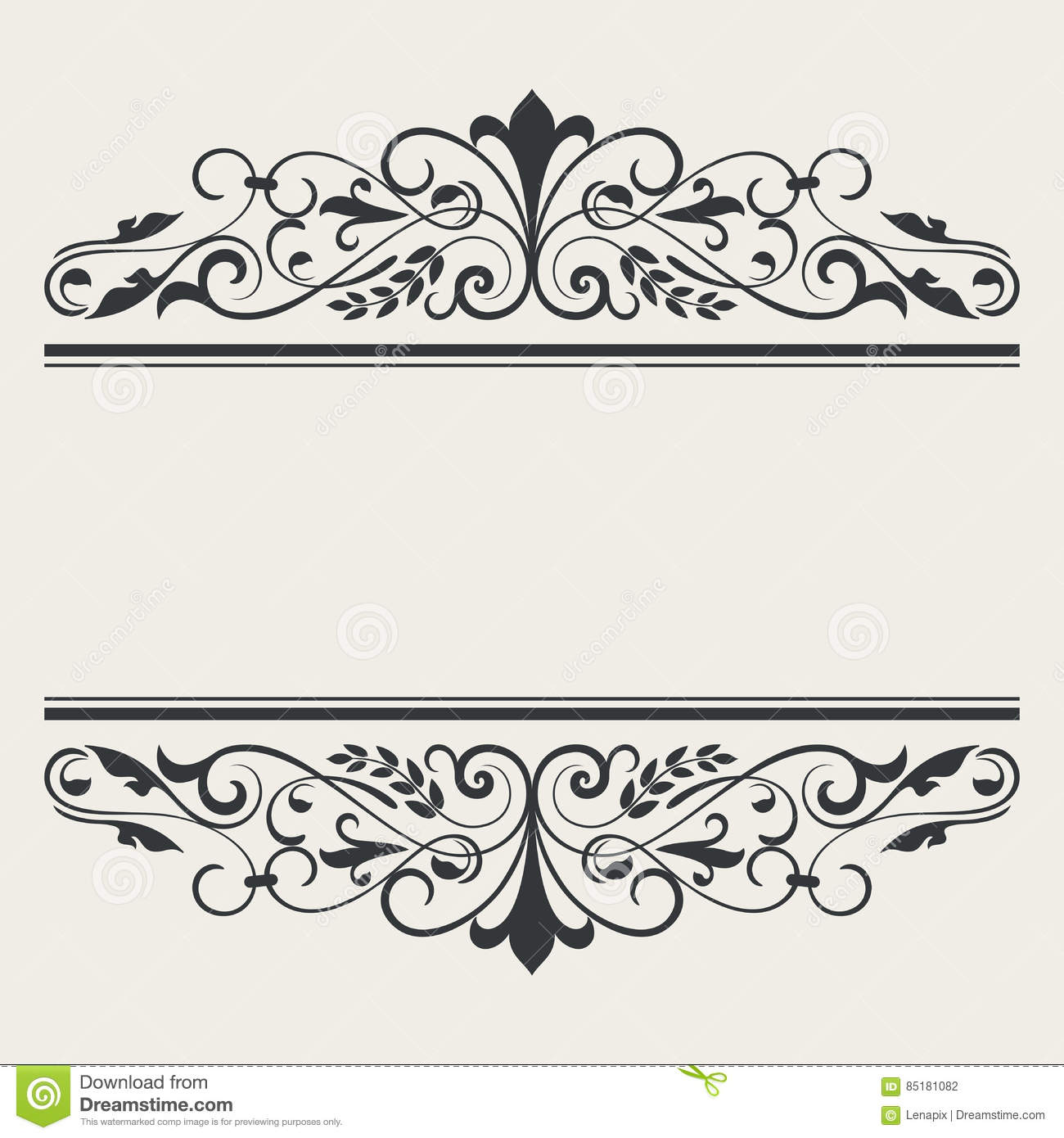 vintage book or card title borders template stock vector illustration of menu greeting 85181082. Black Bedroom Furniture Sets. Home Design Ideas