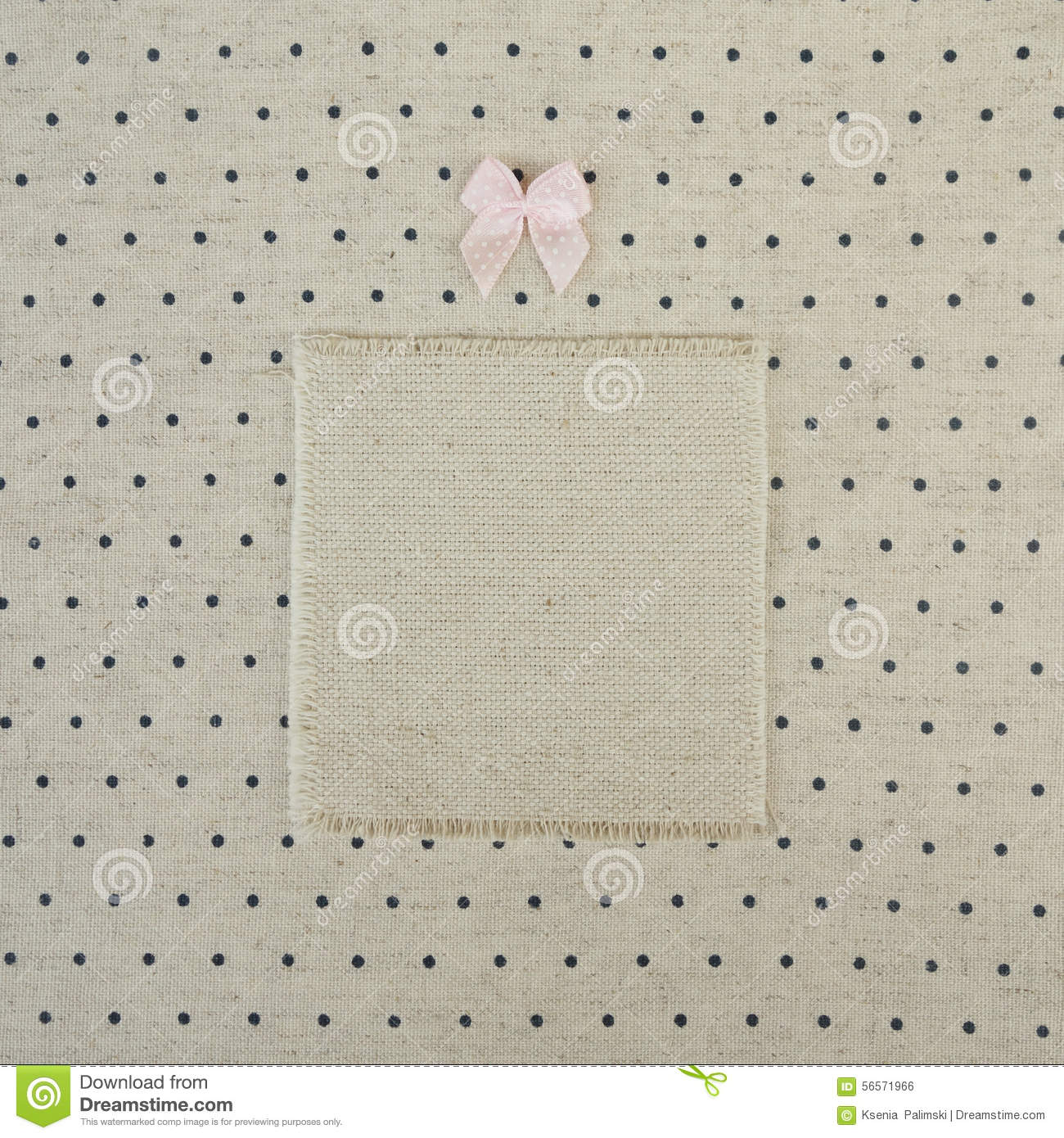 Vintage book cover decorated with kiddy bow