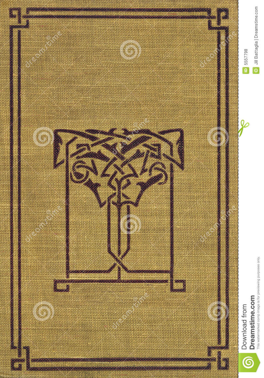 Vintage Decorative Book Cover : Vintage book cover with decorative trim stock photo