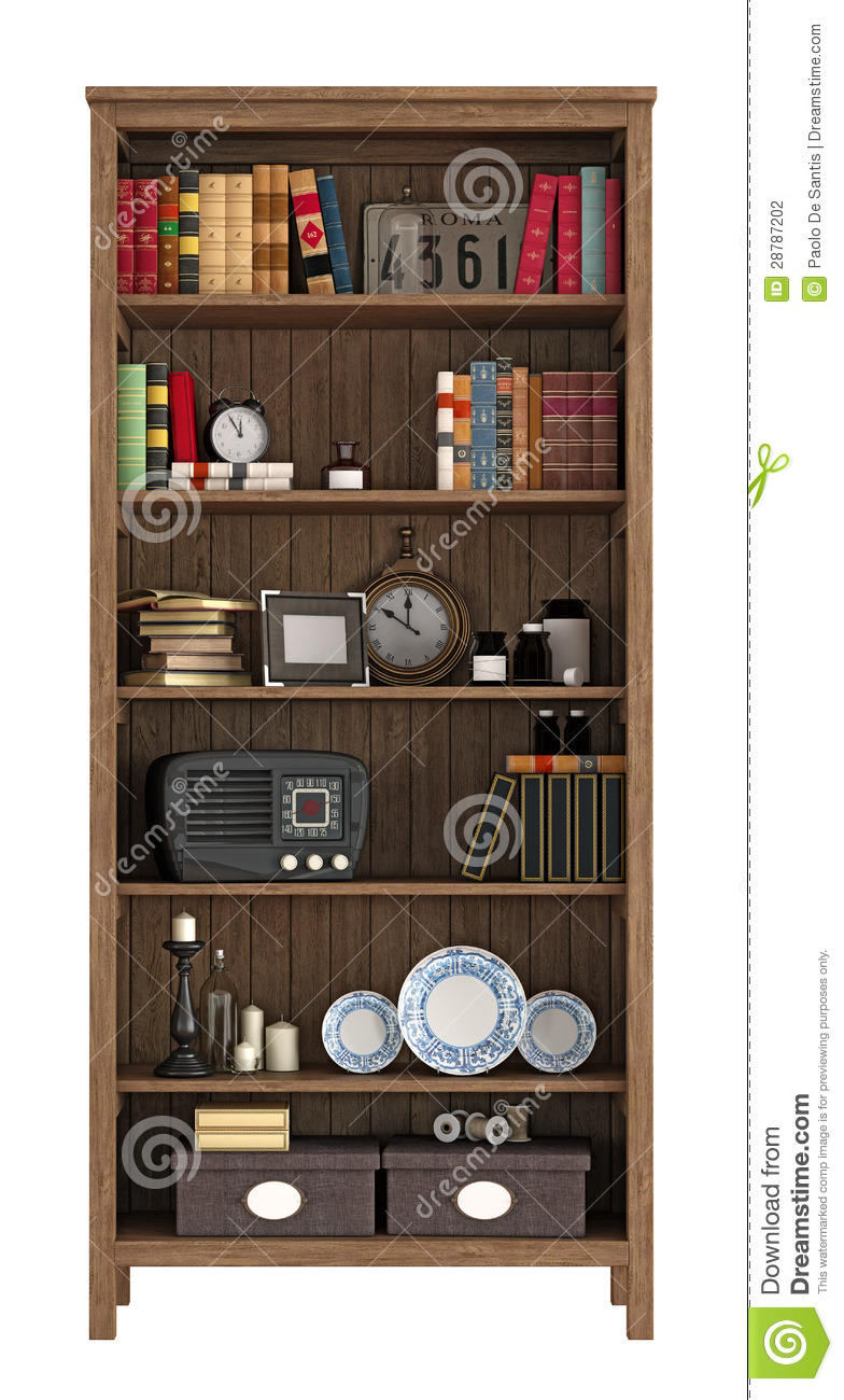 Vintage Bookcase Stock Photography Image 28787202