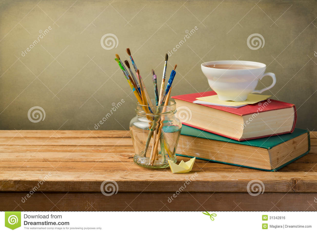 Vintage Books Cup Of Tea Royalty Free Stock Image