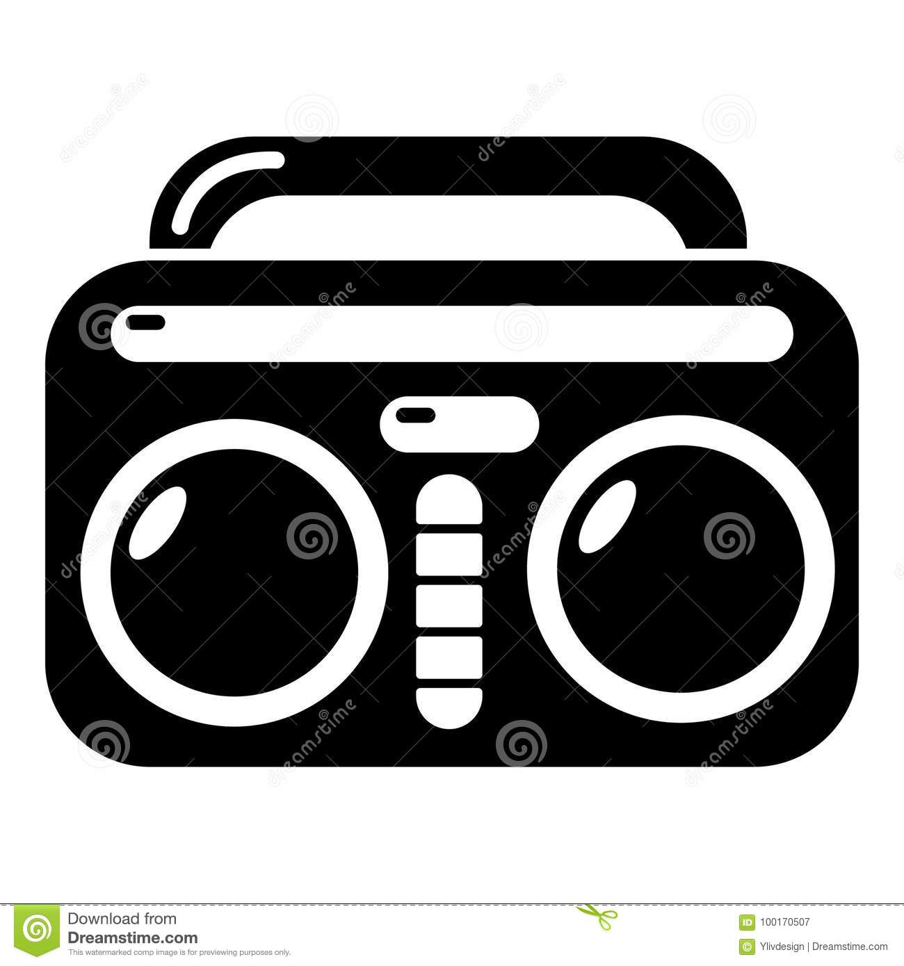 vintage boombox icon simple style stock vector illustration of rh dreamstime com boom box vector free boombox vector art