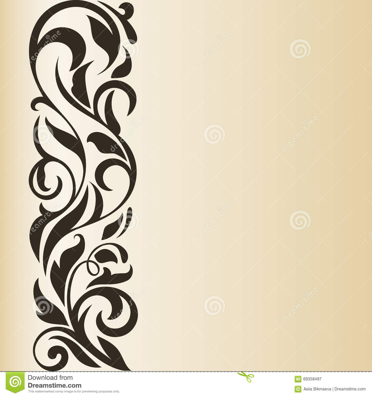 Vector Vintage Light Brown Beige Border Stock Vector 472882243 ...