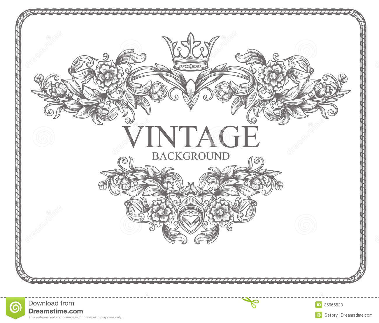 vintage border frame royalty free stock photos