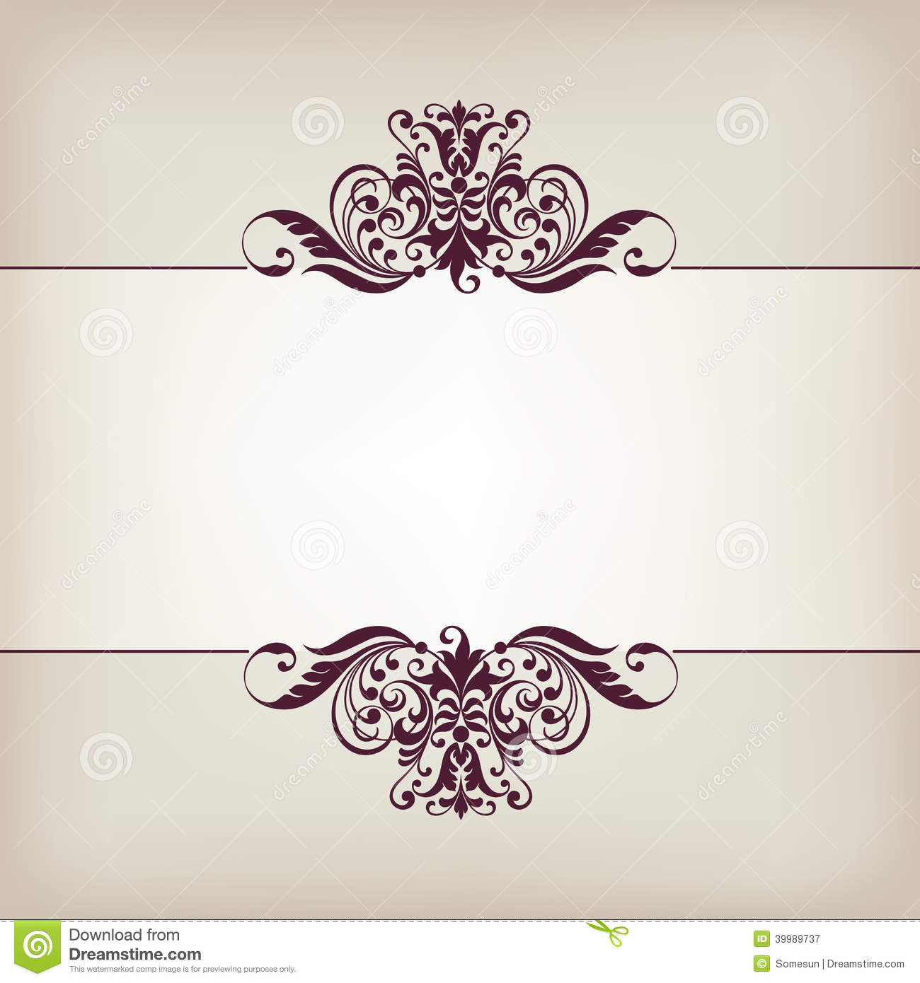 ... pattern in antique baroque style arabic decorative calligraphy design