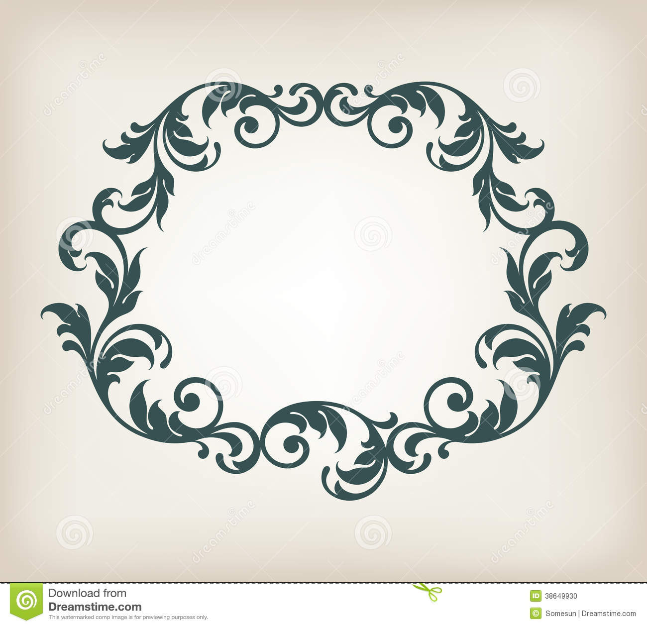 Vintage border frame ornament calligraphy vector stock