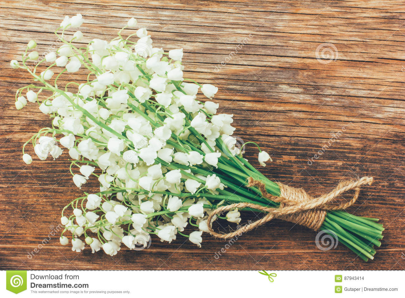 Vintage bouquet of wild flowers the white scented lilies of the vintage bouquet of wild flowers the white scented lilies of the valley izmirmasajfo