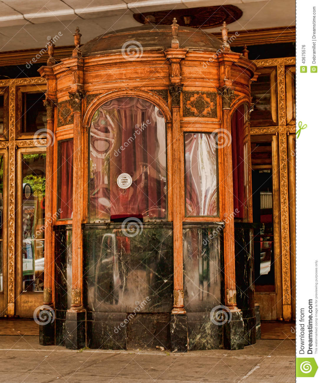 Vintage box office booth stock photo image 43675576 for Narrow windows for sale