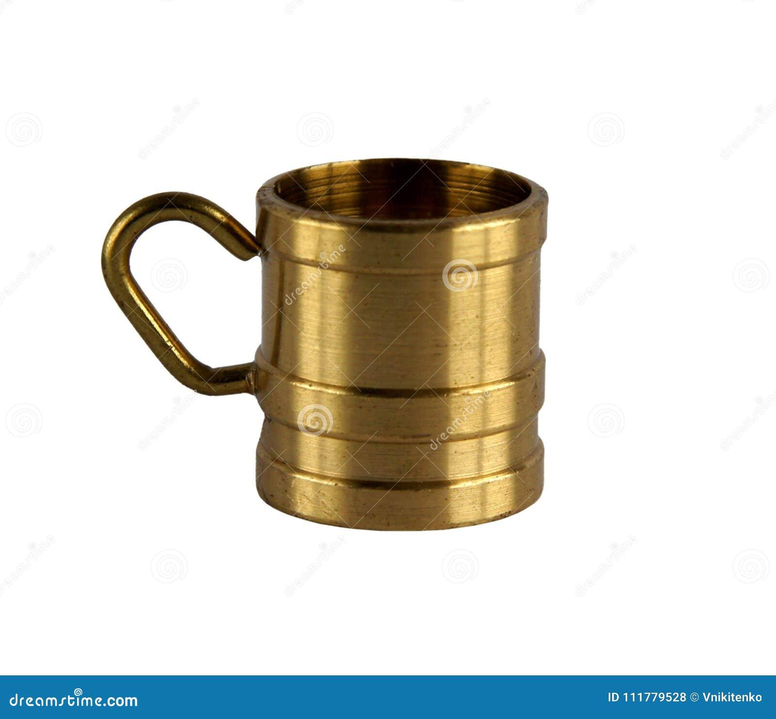 Vintage brass cup or mug