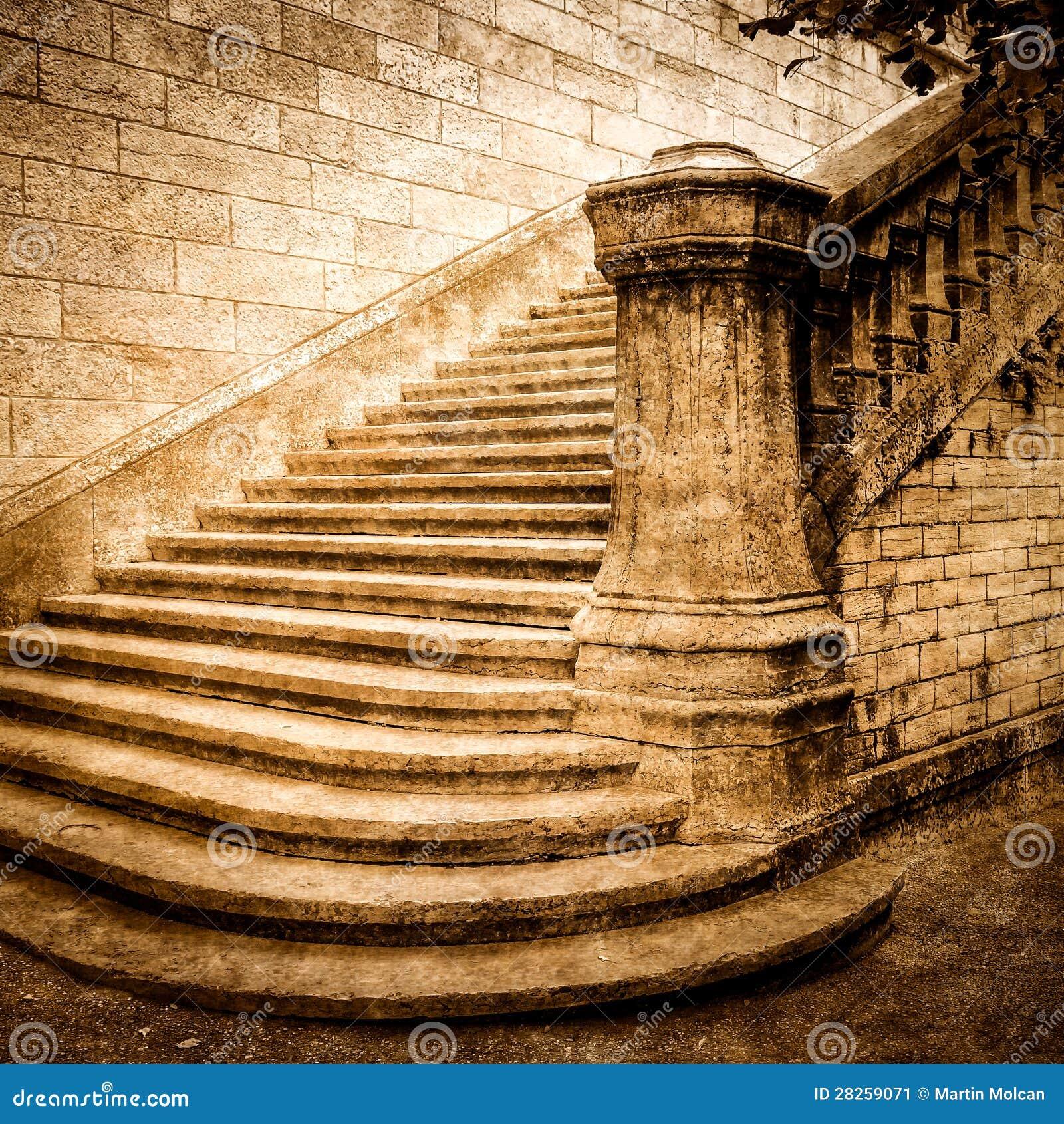 Vintage Brick Staircase Stock Image Image 28259071