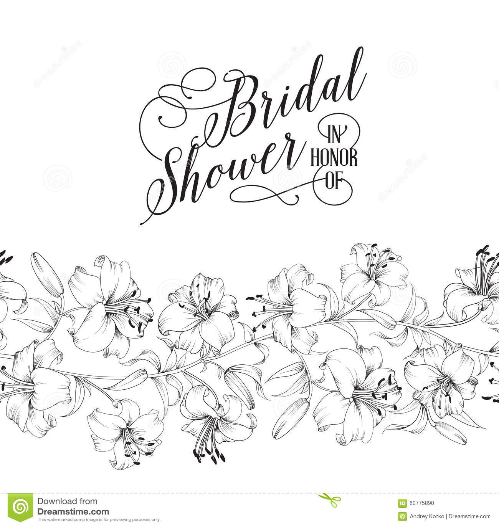 vintage bridal shower card stock vector  image of