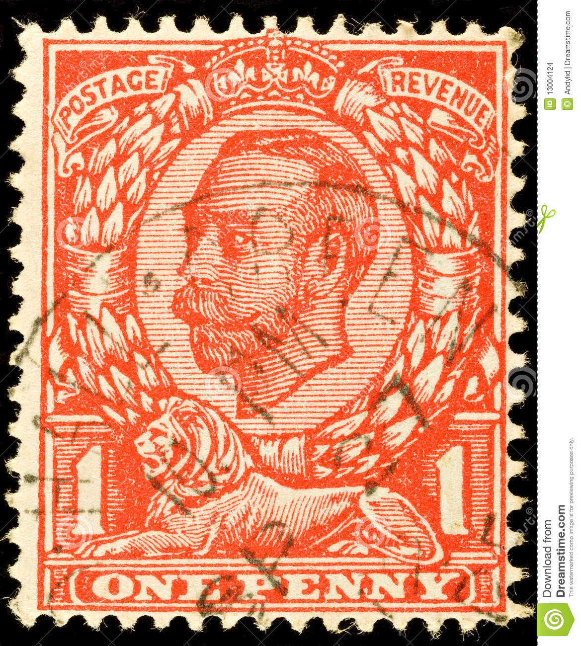 Vintage British Postage Stamp Stock Images  Image 13004124
