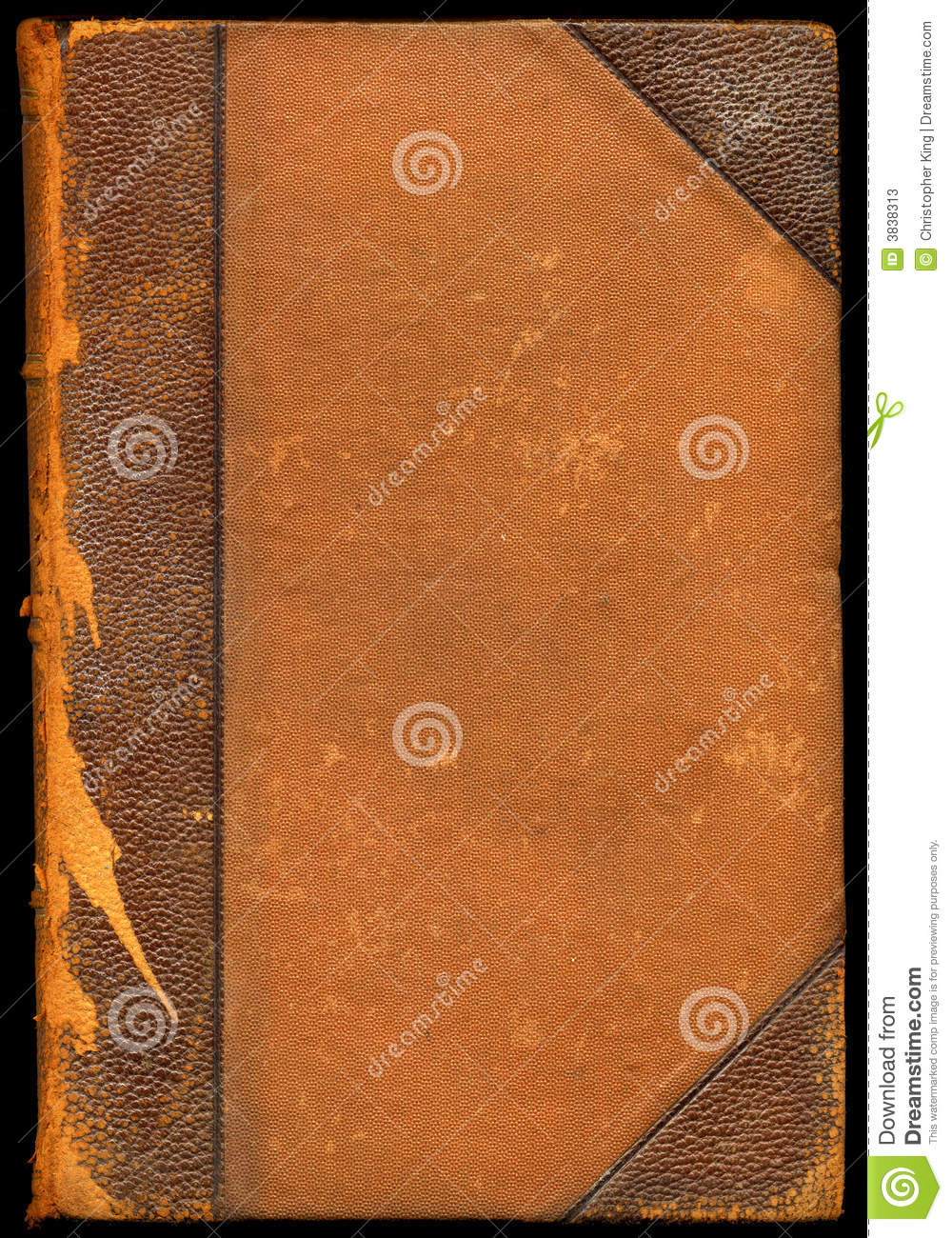 Old Brown Book Cover : Vintage brown leather book stock photography