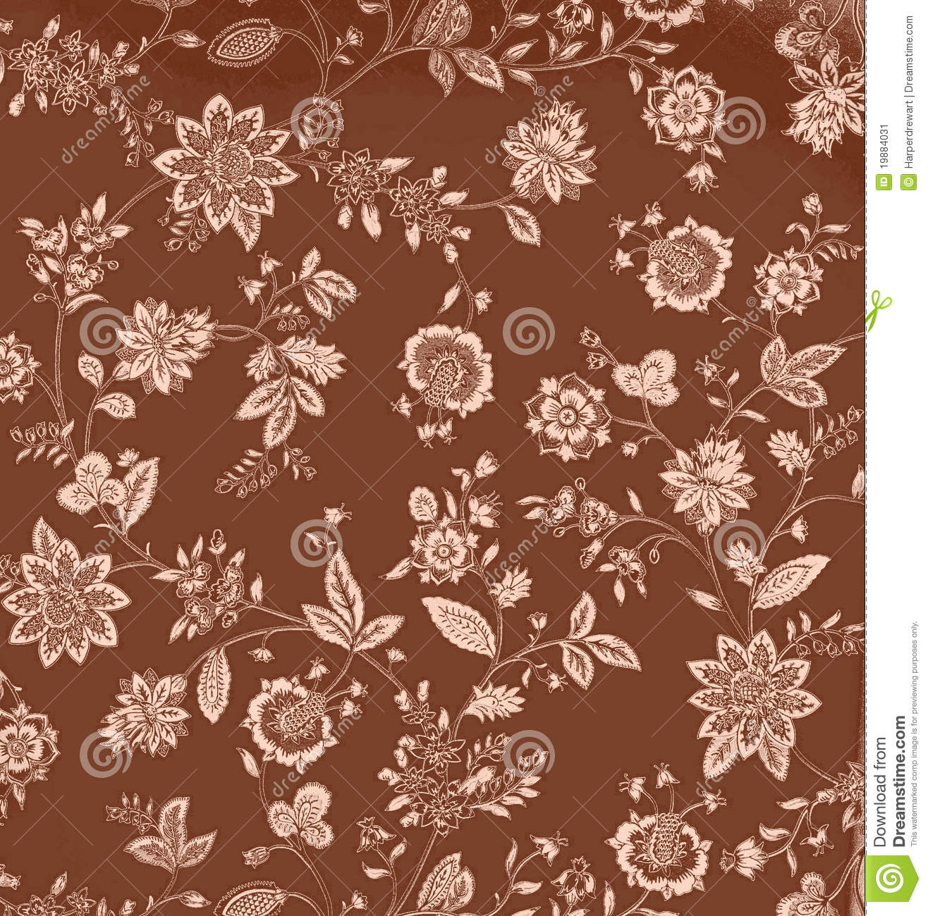 brown floral myspace layout vintage brown floral background stock vector image 19884031