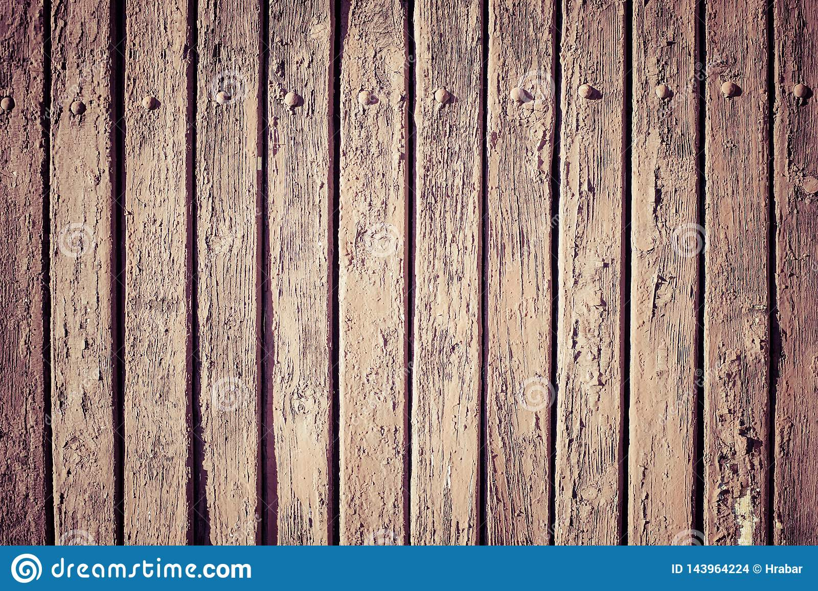 Vintage brown wooden wall plank background