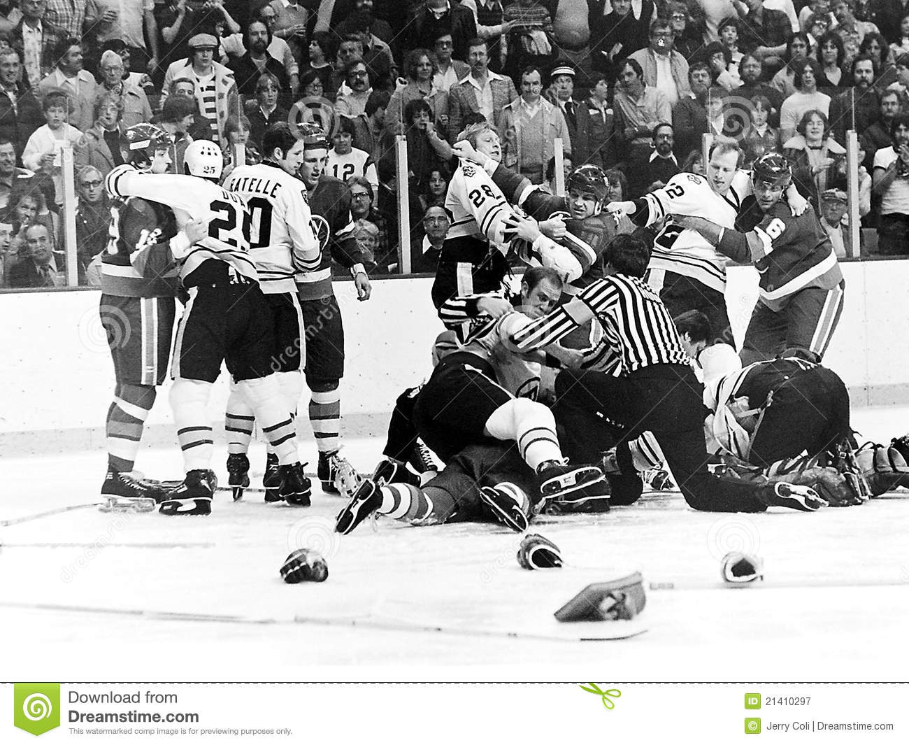 quality design f2fbb 83ea8 Vintage Bruins - Islanders Fight. Editorial Photography ...