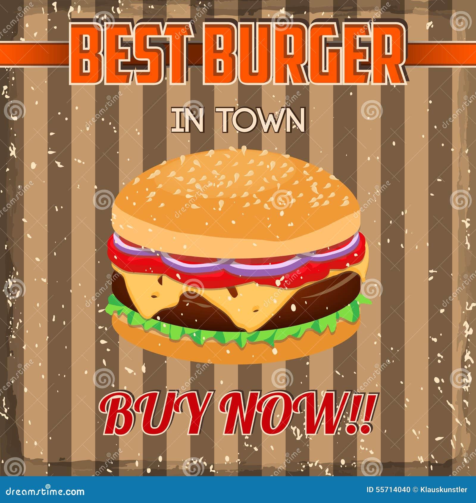 Poster design for mac - Vintage Burgers Poster Design