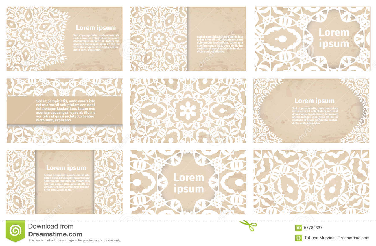 Vintage business card or wedding invitation collection stock download vintage business card or wedding invitation collection stock illustration illustration of antique colourmoves