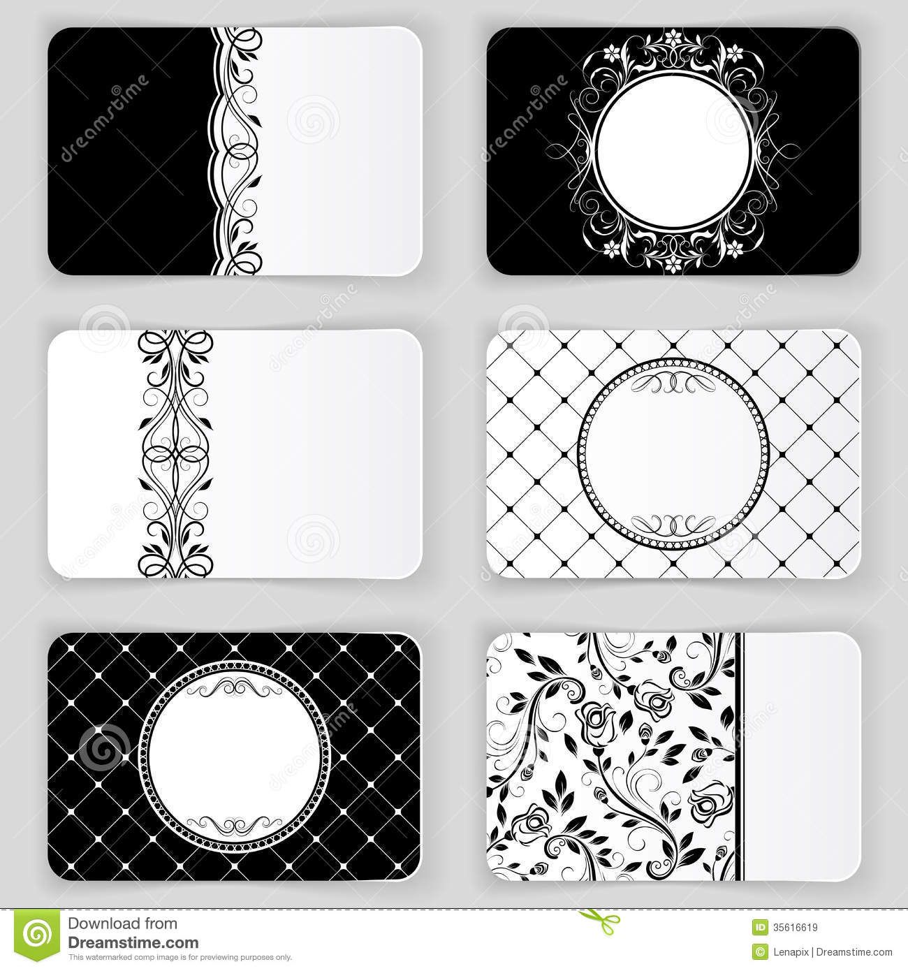 Black and white card template reheart