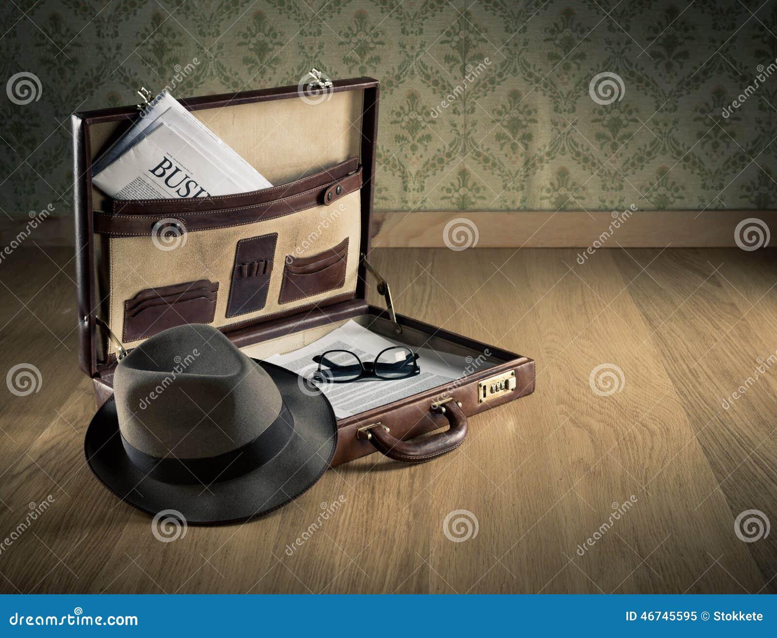 Vintage Businessman Briefcase Stock Image