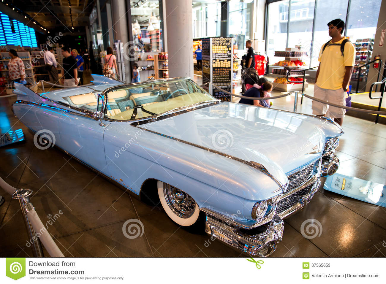 Vintage Cadillac Classic Car Editorial Stock Photo Image Of