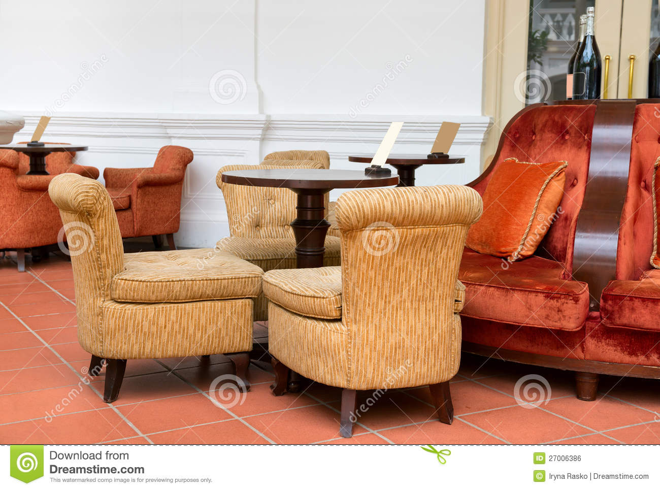 Vintage Cafe With Easy Armchairs And Sofas Stock Photo ...