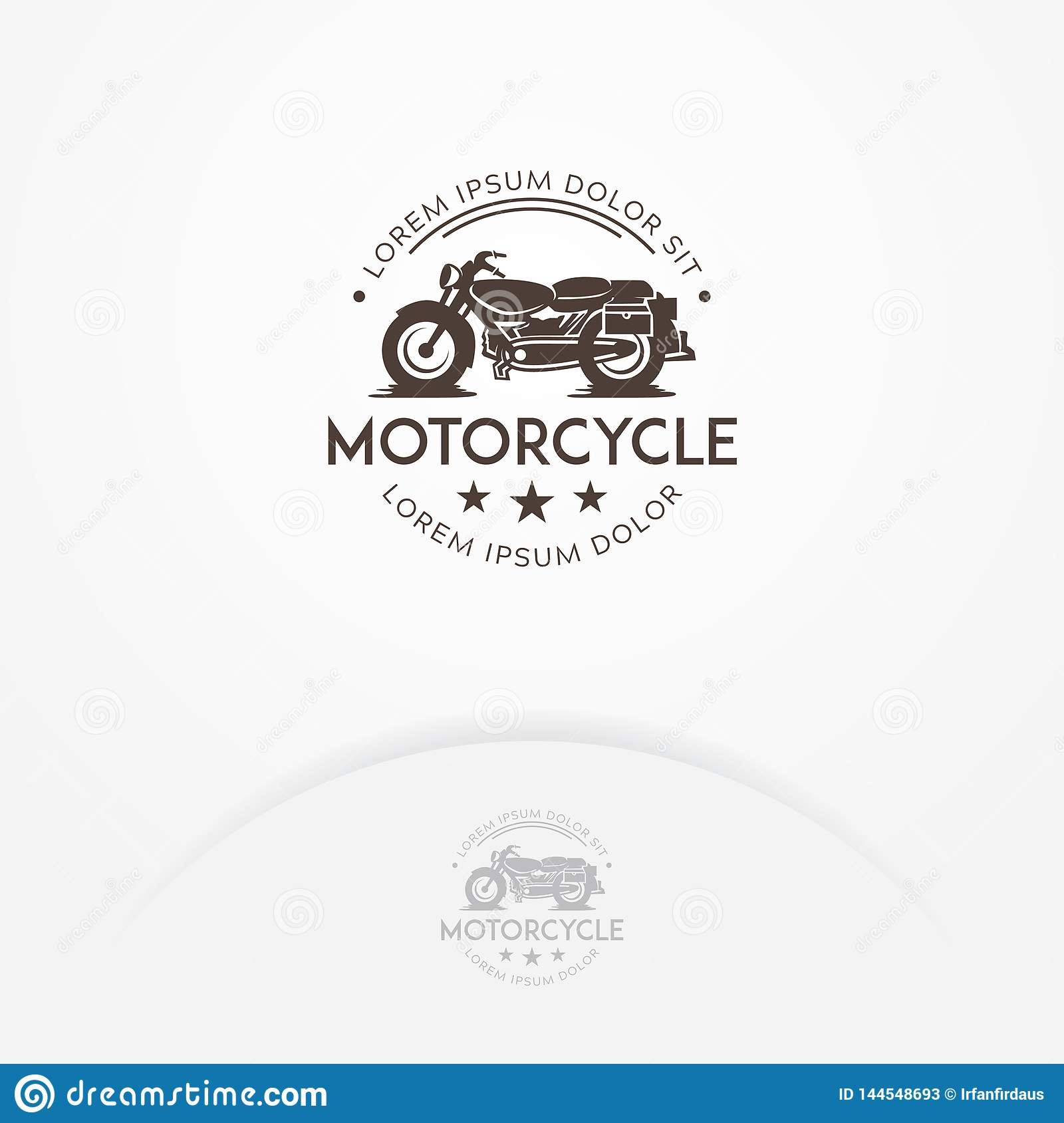 Classic Motorcycle Logo Design Stock Vector Illustration Of Cycle Classic 144548693