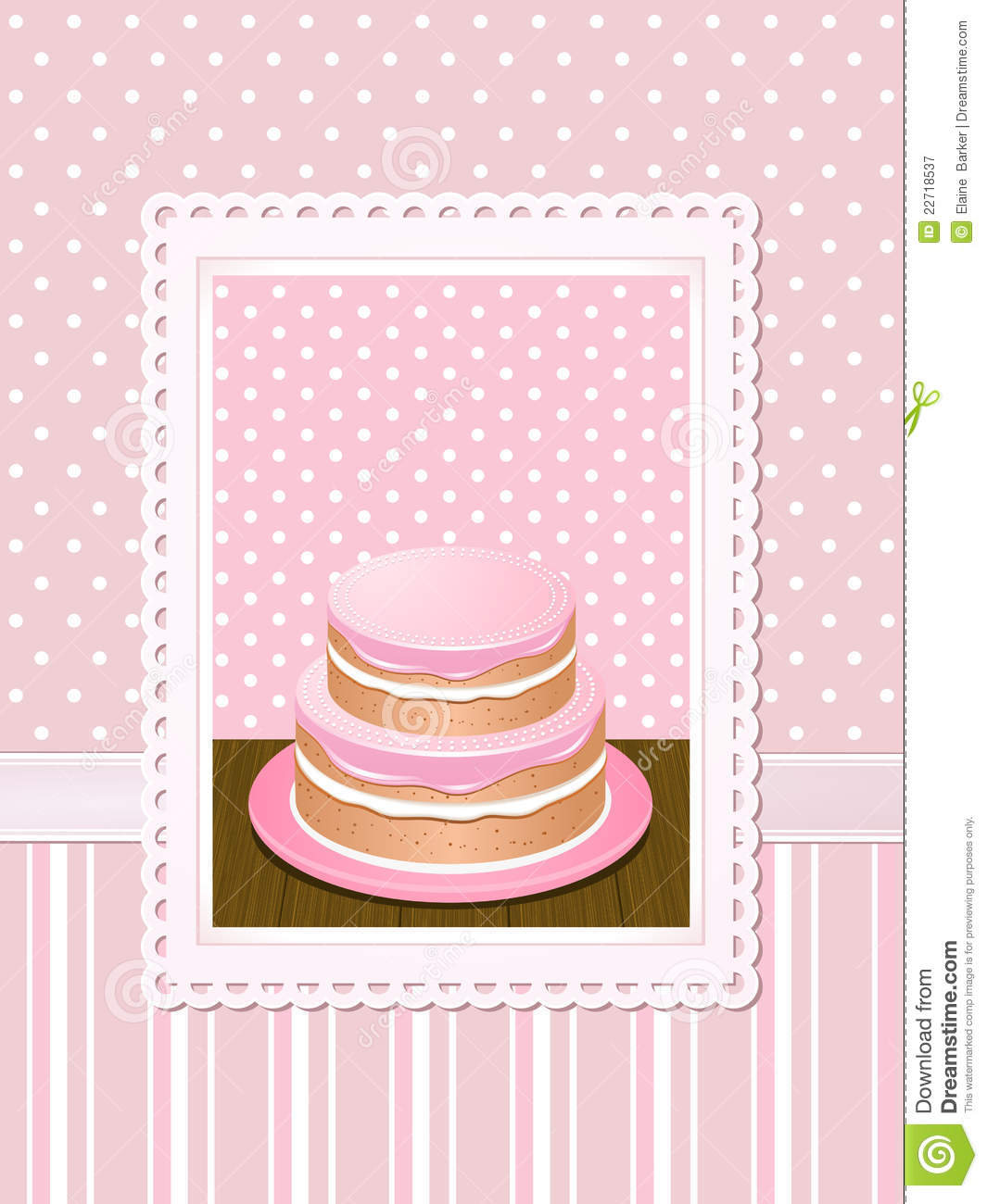 Vintage Cake Background Pink Royalty Free Stock