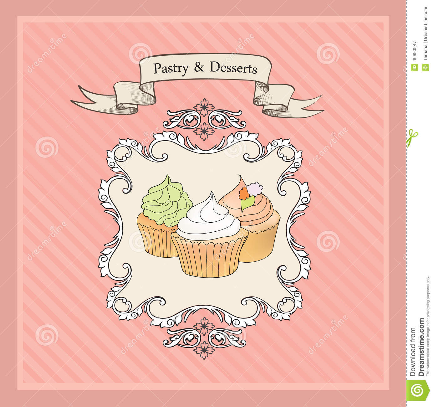 Vintage cakes background retro bakery label sweets and - Decoracion vintage retro ...