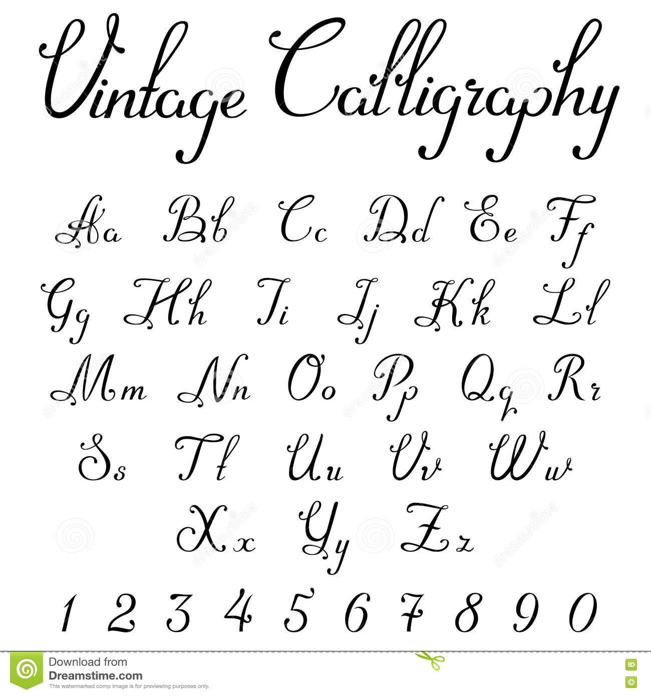Old letters elegant handwriting royalty free stock photo