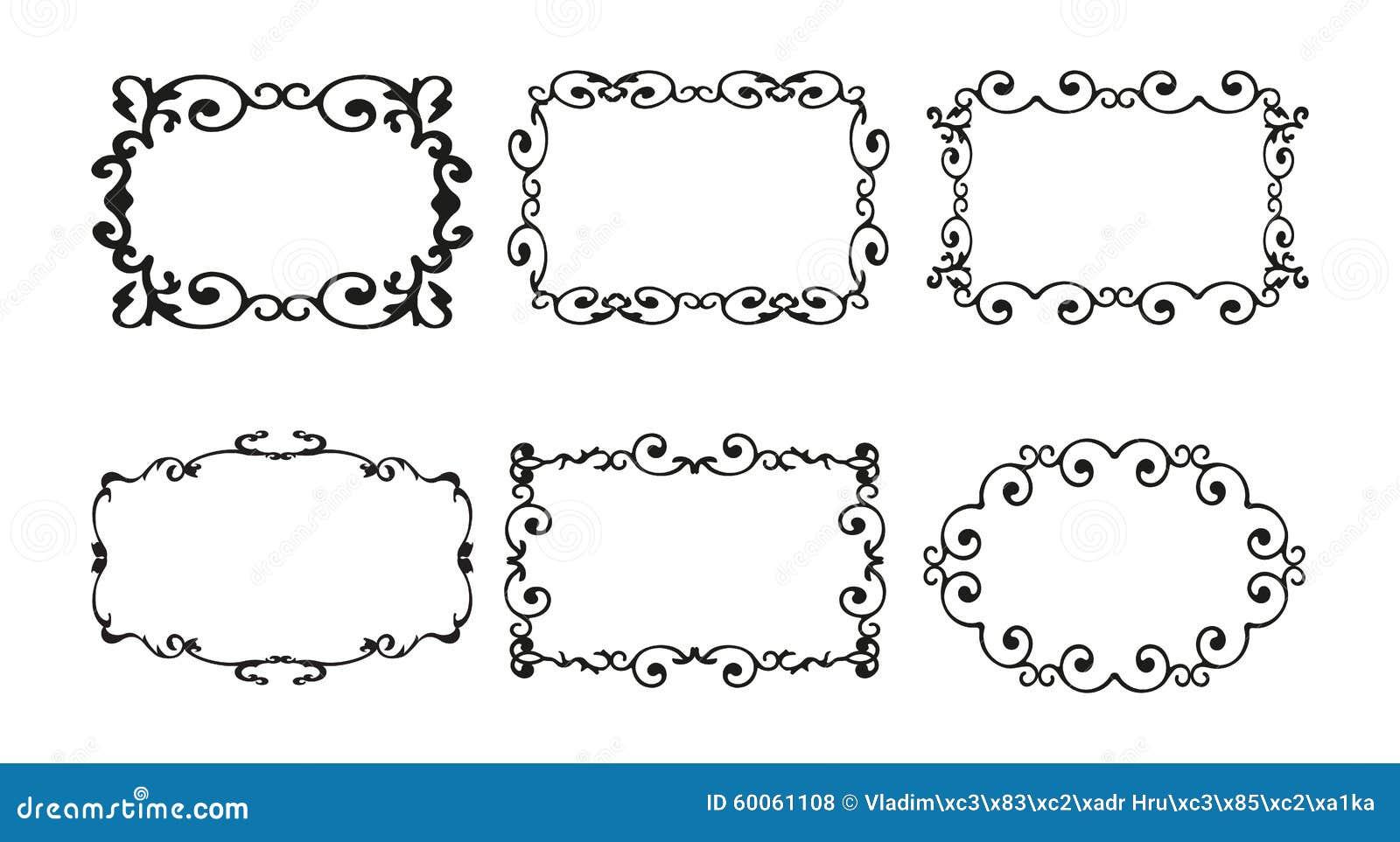 Decorative Borders For Word Vintage Border Frame Decorative Ornate Calligraphy Vector Stock
