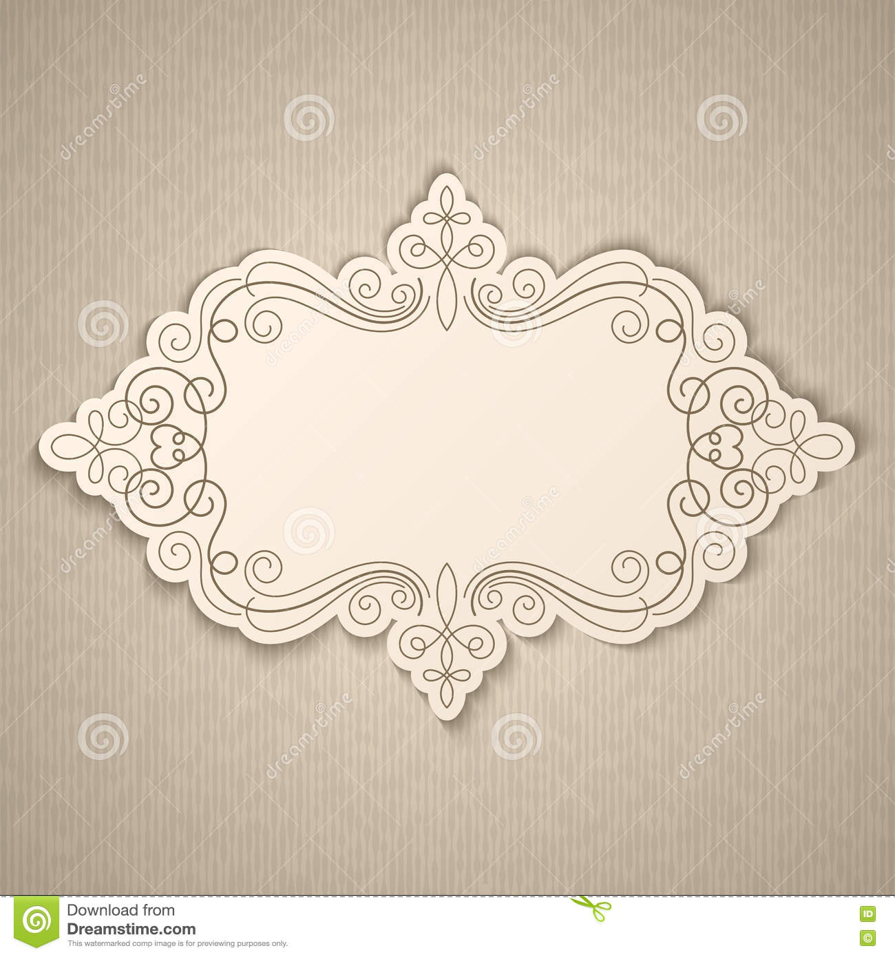 Vintage calligraphy frame stock vector image