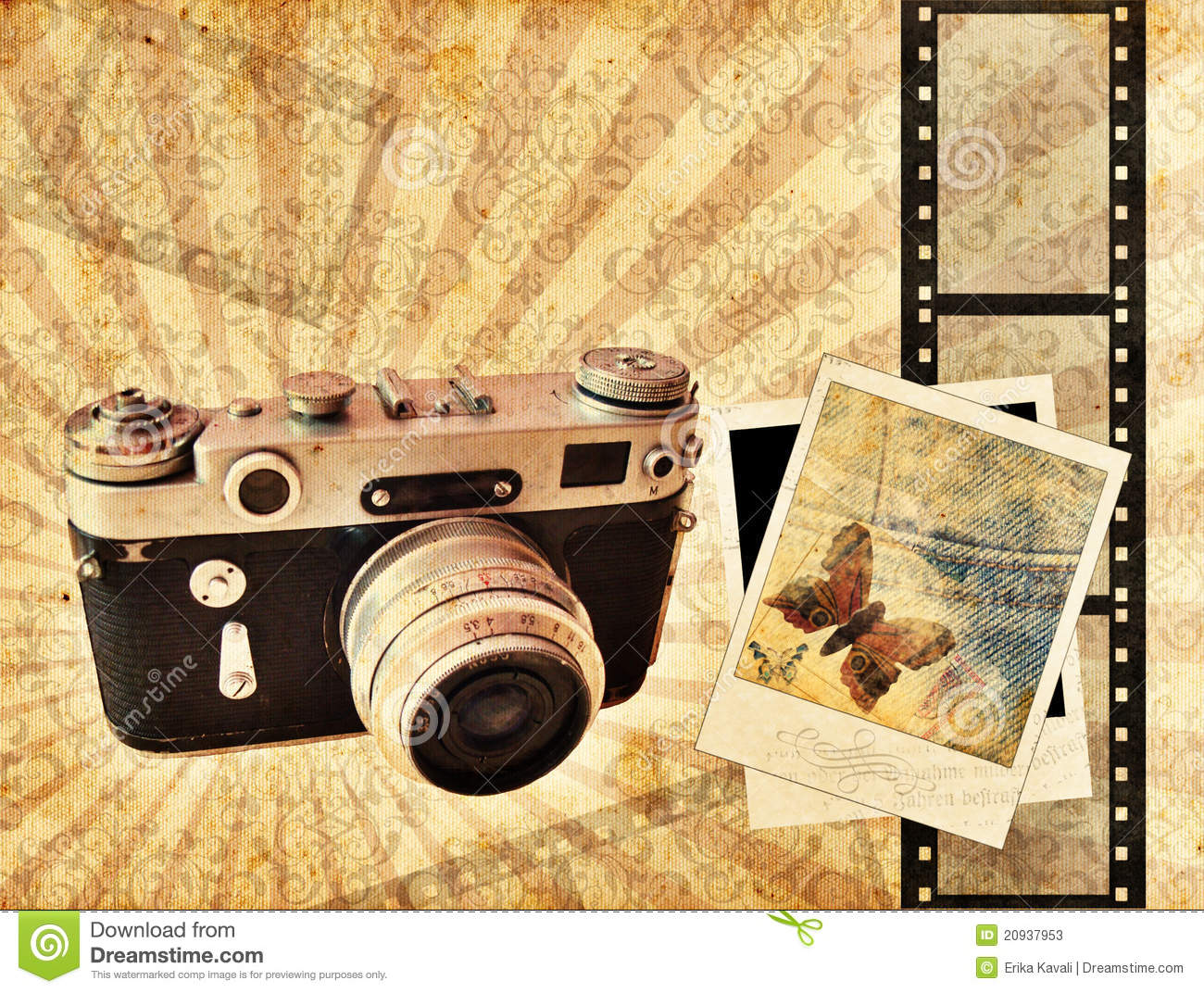 Vintage camera background with Vintage Camera Backgrounds