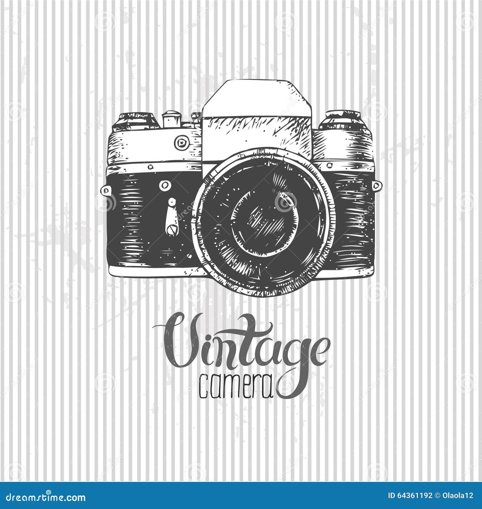 Vintage Camera Stock Vector - Image: 64361192