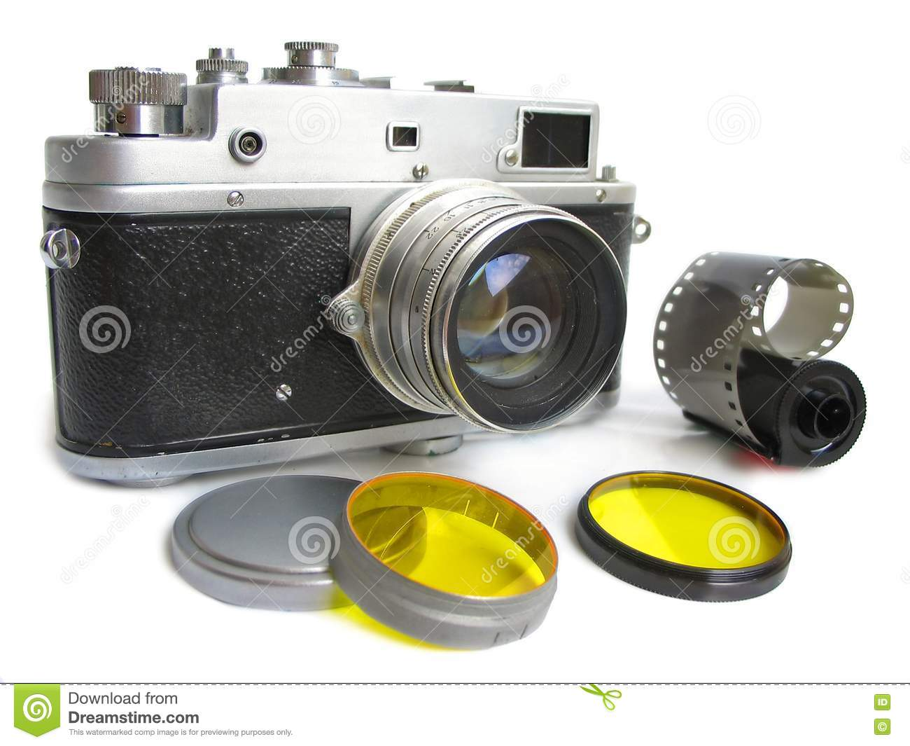 Vintage camera with photofilte