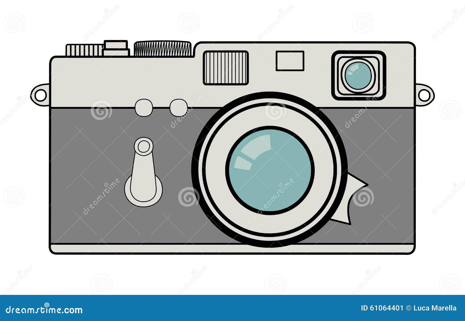 Vintage Camera Vector Illustration Stock Vector - Image ...