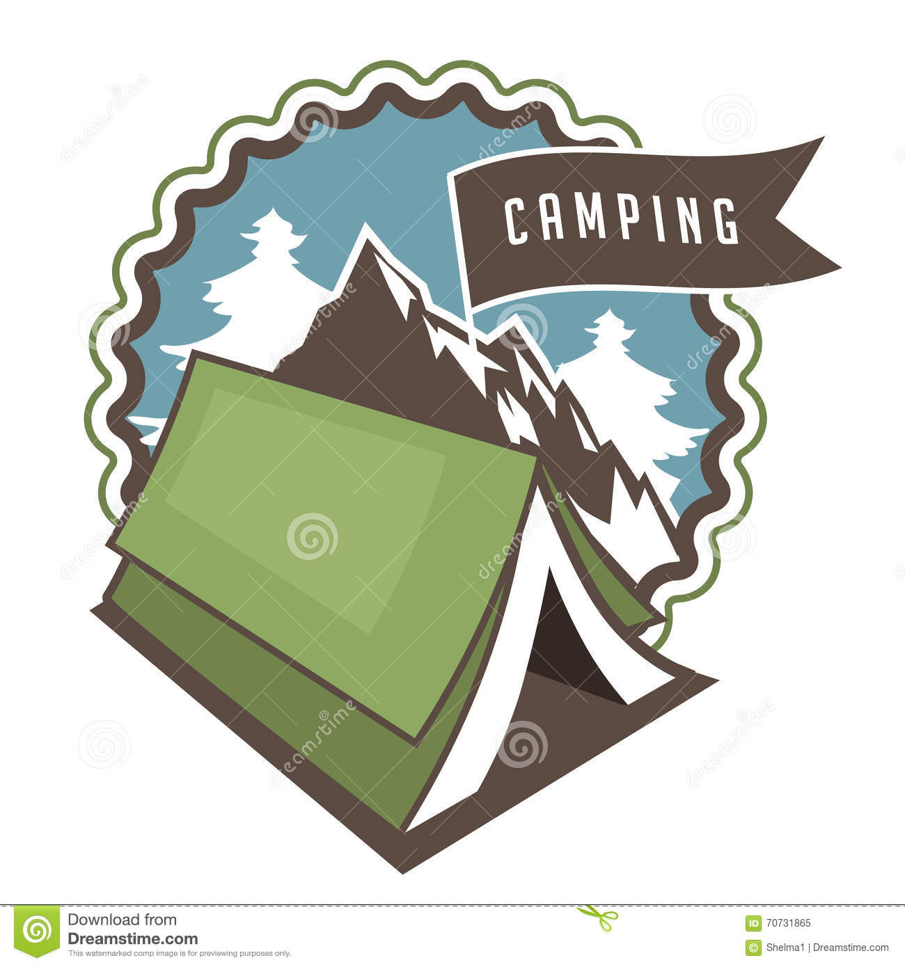Poster design eps - Vintage Camping Backpacking And Hiking Poster Design Royalty Free Stock Photo