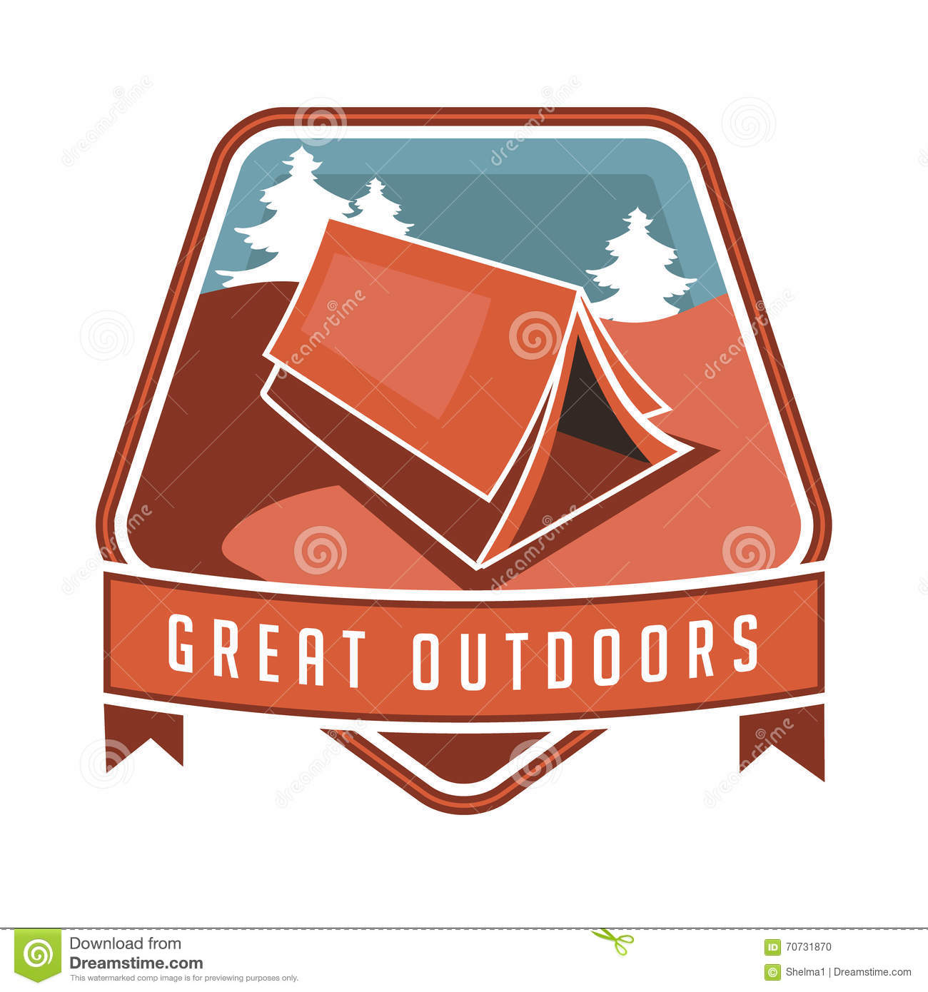 Poster design eps - Vintage Camping Backpacking And Hiking Poster Design Stock Vector