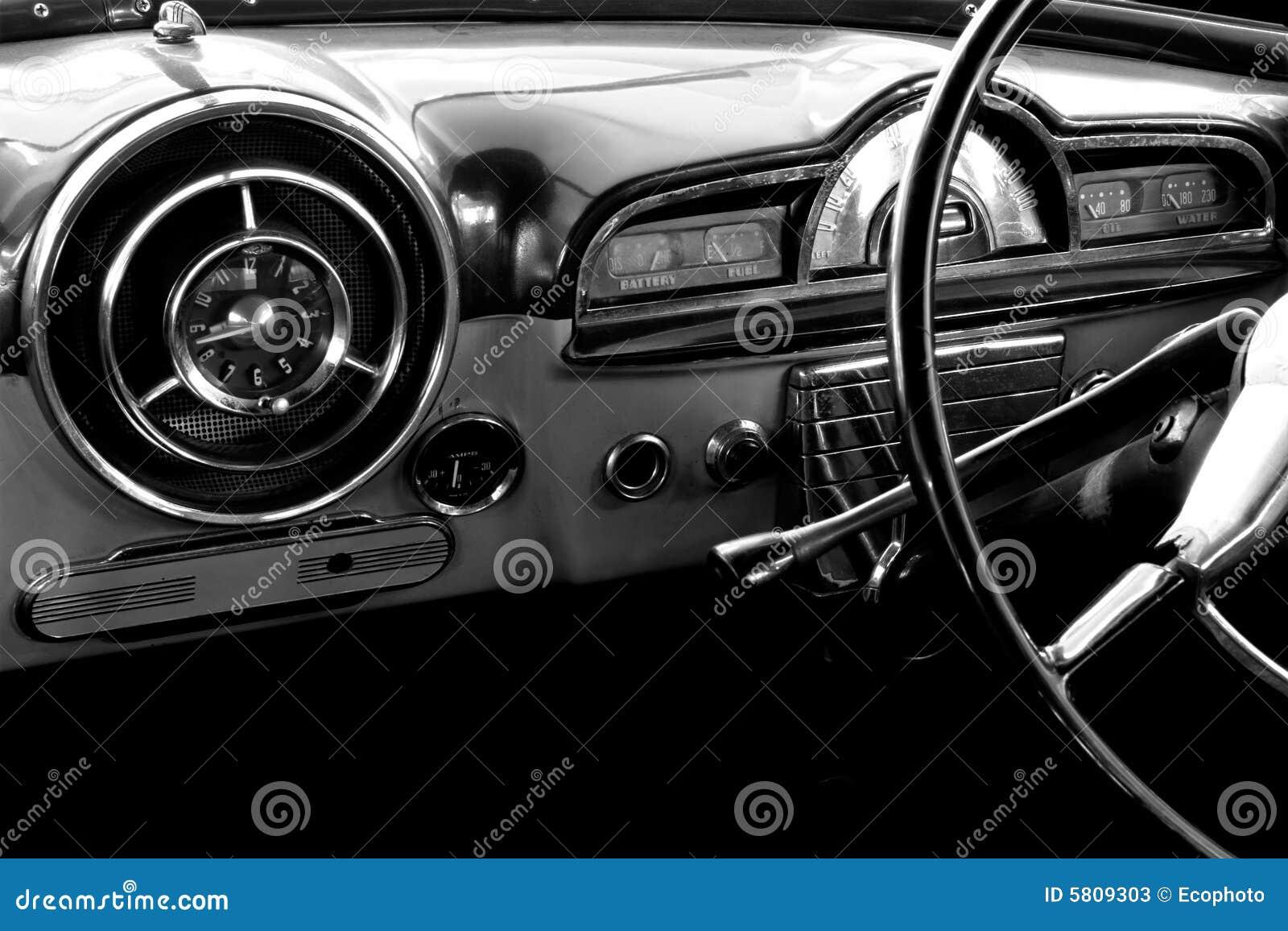 Vintage Car Stock Image Of Black Retro Mechanical
