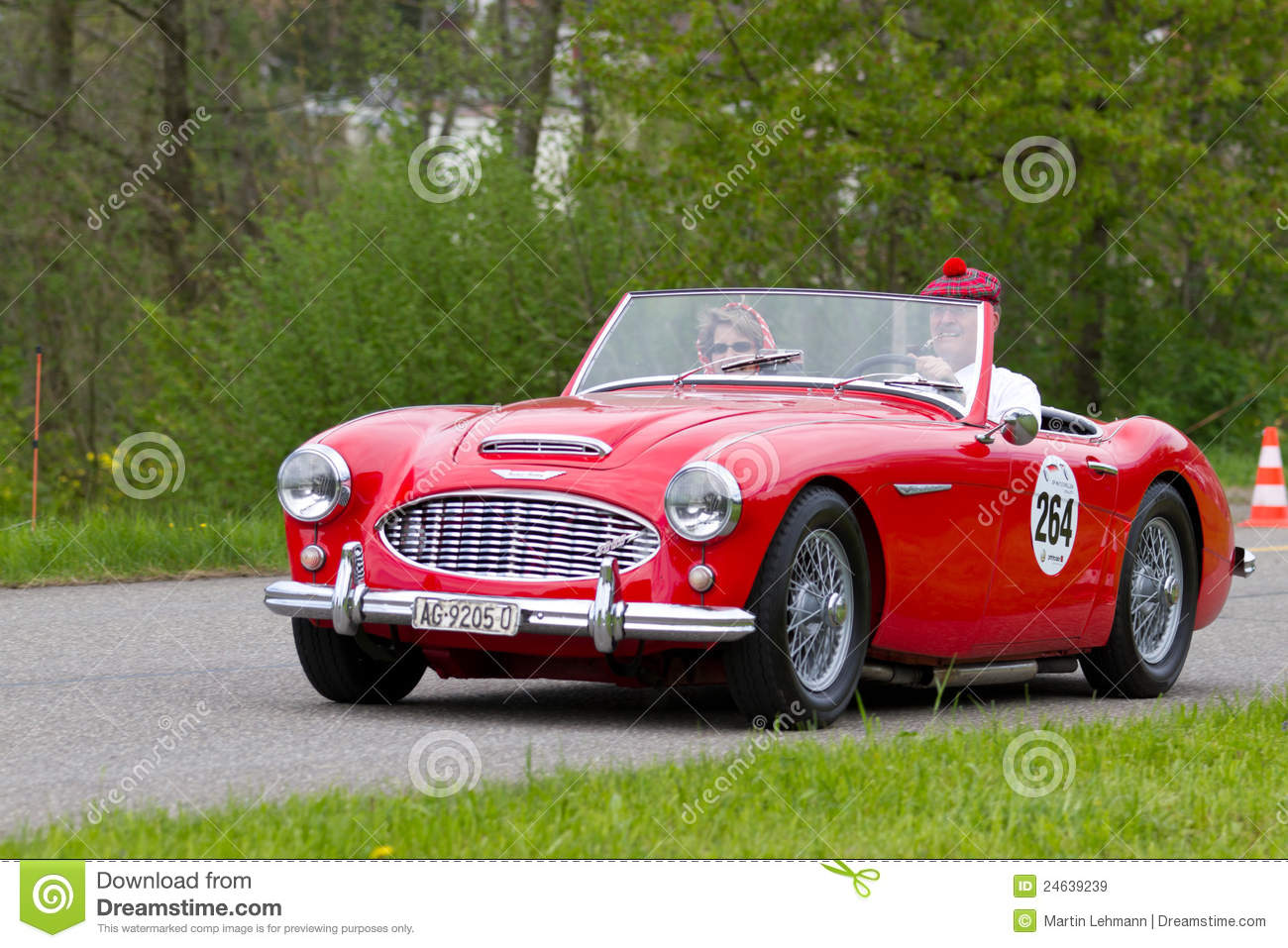 Vintage Car Austin Healey From Editorial Stock Image