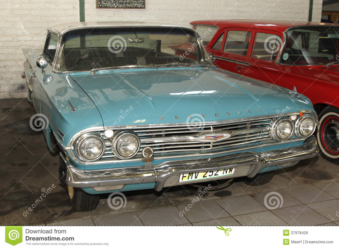 Rustenburg South Africa  city photos gallery : RUSTENBURG SOUTH AFRICA – FEBRUARY 15 Blue 1960 Chevrolet Impala