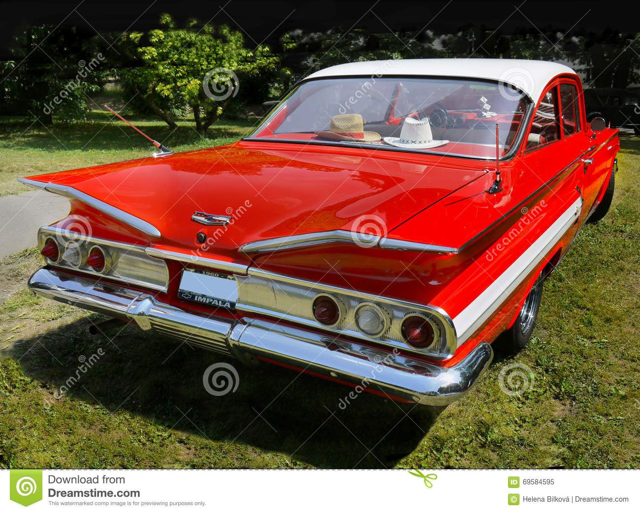 vintage car chevrolet impala sports coupe editorial image image of fifties retro 69584595. Black Bedroom Furniture Sets. Home Design Ideas