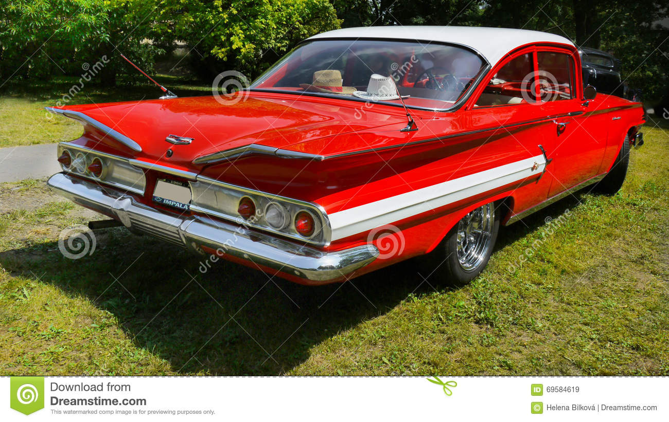 Vintage Car, Chevrolet Impala, Sports Coupe Editorial Stock Image ...