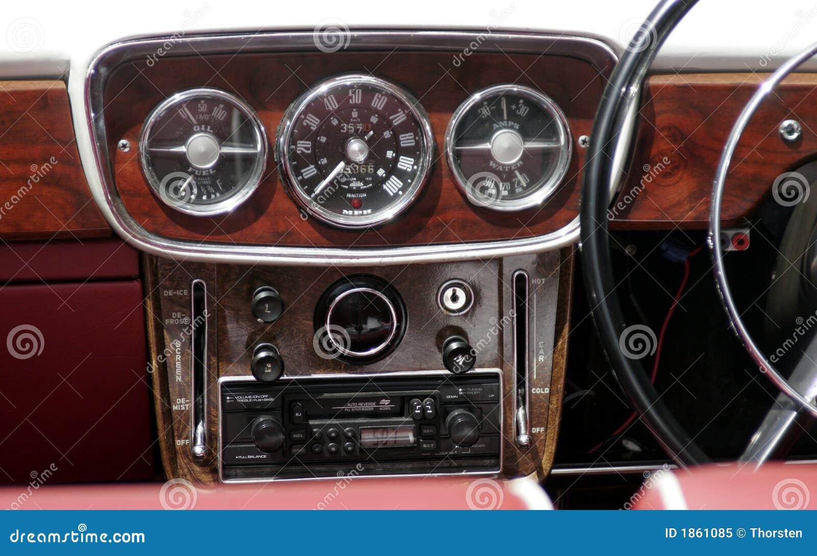 vintage car dashboard stock image image of vehicle meter 1861085. Black Bedroom Furniture Sets. Home Design Ideas