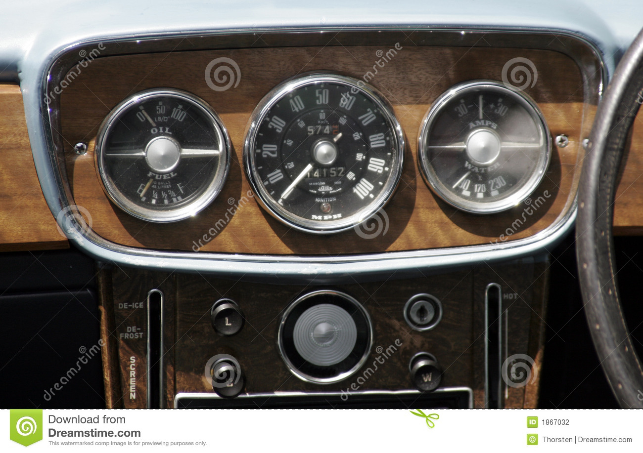 Vintage Car Dashboard Stock Photo Image Of Meter
