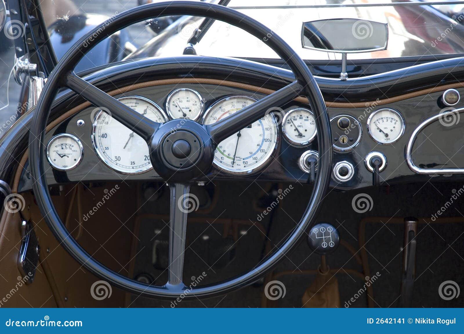 vintage car dashboard stock image image of elegance collector 2642141. Black Bedroom Furniture Sets. Home Design Ideas