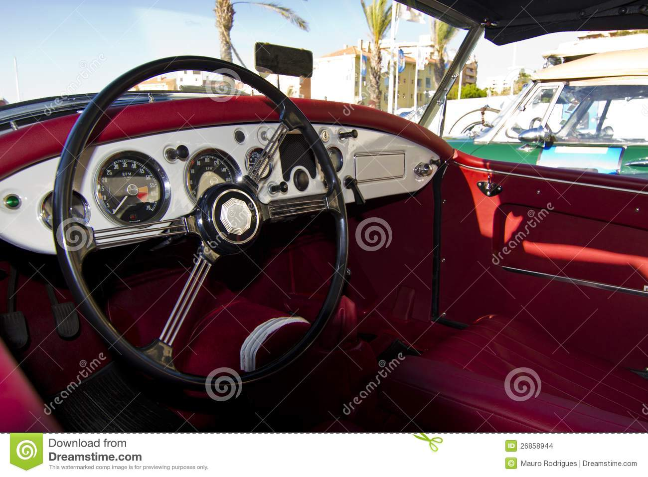 vintage car detail interior stock images image 26858944. Black Bedroom Furniture Sets. Home Design Ideas