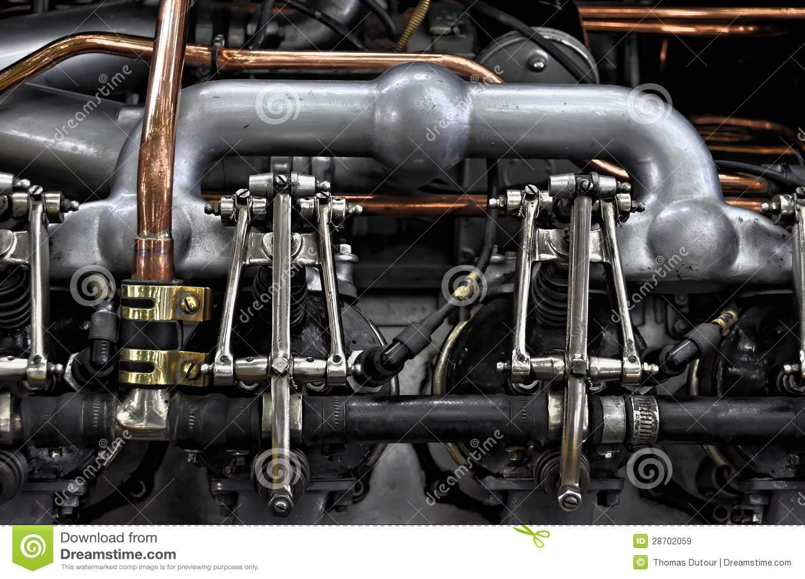 Vintage car engine stock image. Image of old, vintage - 28702059