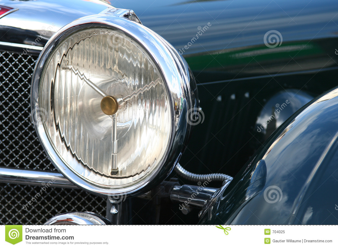 Vintage Car Headlight Stock Image Image Of Cutout European 704025